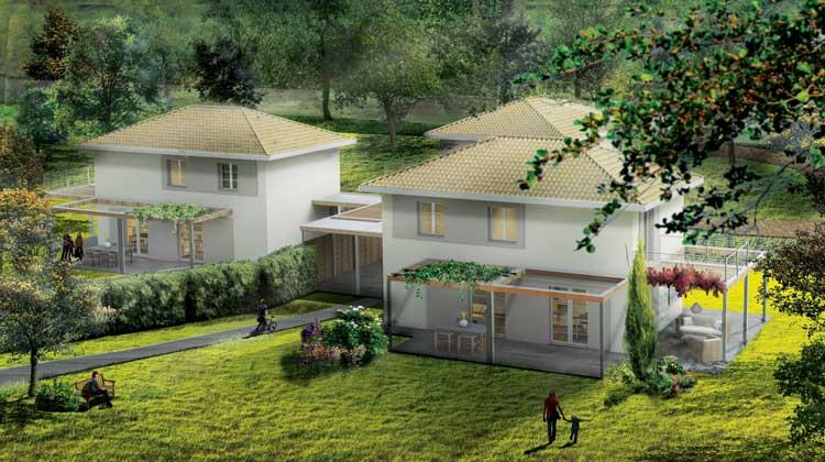 tre case in legno a roma immerse nel verde di ariccia
